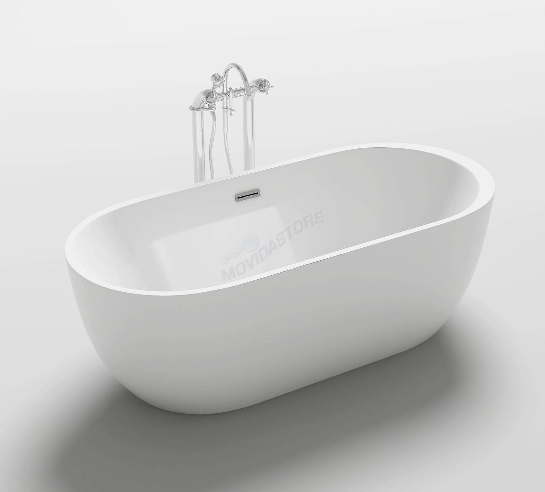 Vasca da bagno one freestanding moderna design vasche centro ovale 170x80xh58 ebay - Vasca bagno design ...