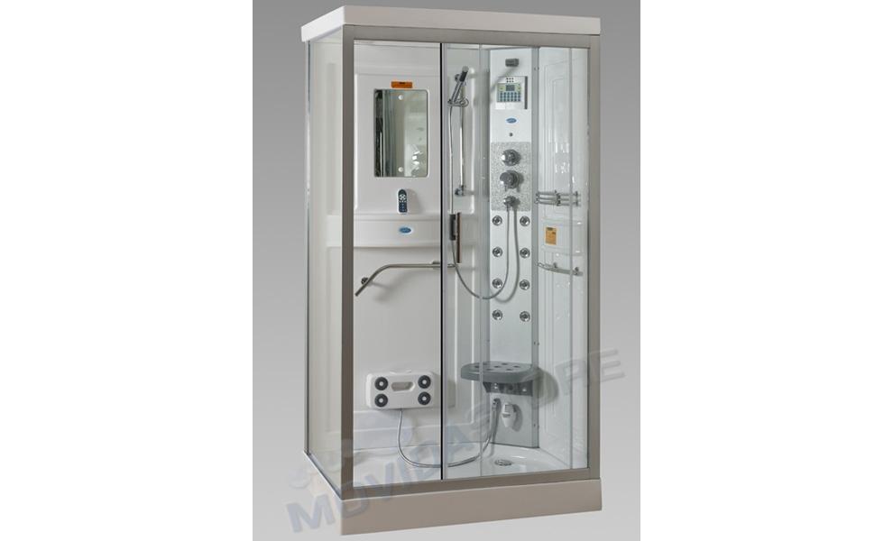 BOX CABINA DOCCIA IDROMASSAGGIO 110X80X215 R SAUNA VAPORE RETTANGOLARE ...