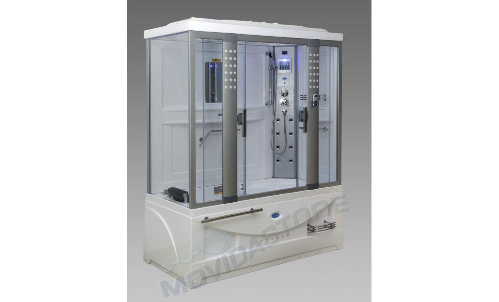 Box cabina doccia sauna vasca idromassaggio rettangolare ...