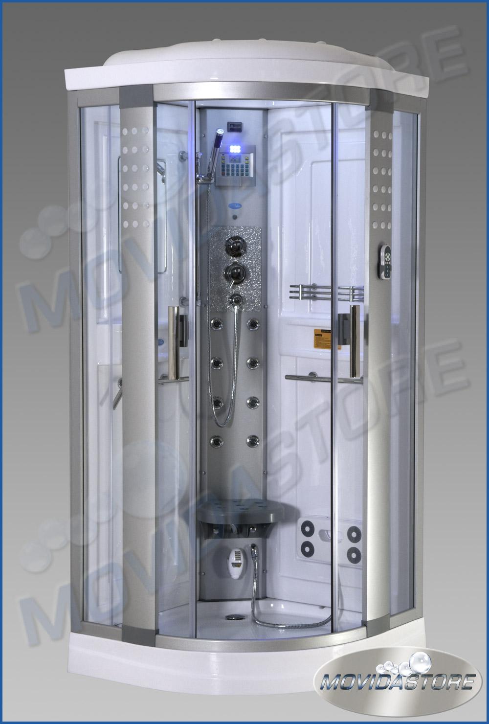 Box cabina doccia idromassaggio multifunzione sauna vapore for Doccia sauna