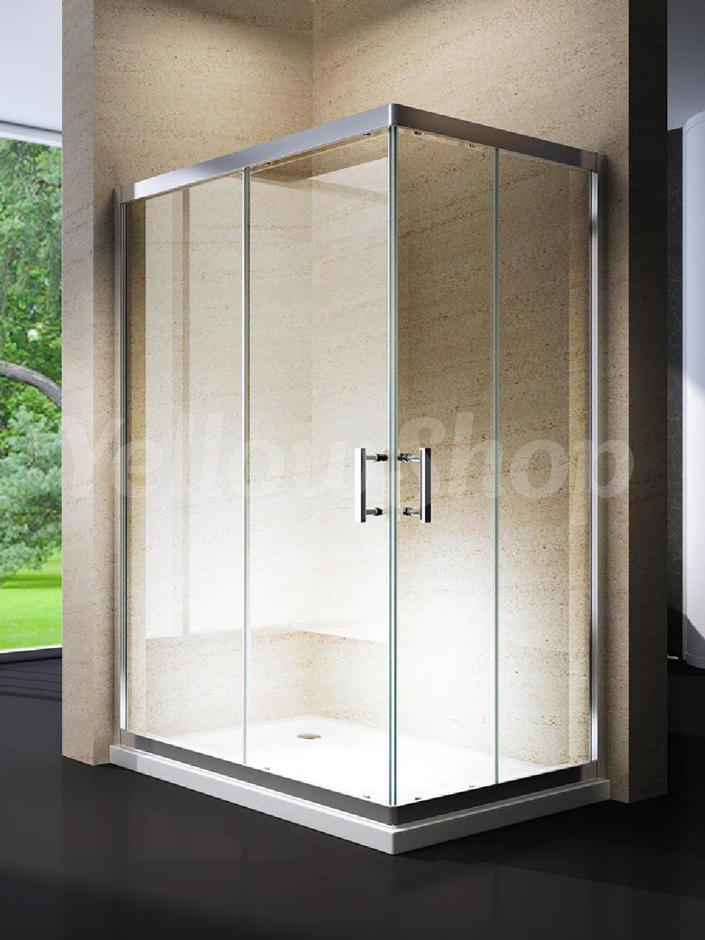 Box cabina doccia bagno rettangolare angolare 70x90 70x100 - Cabina doccia 70x120 ...