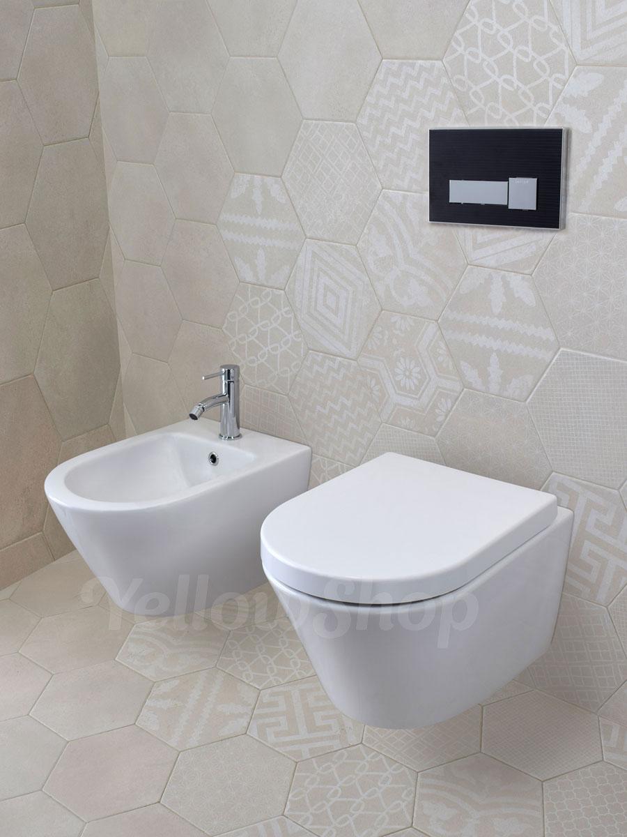 Sanitari sospesi coprivaso soft a chiusura rallentata wc for Sanitari sospesi
