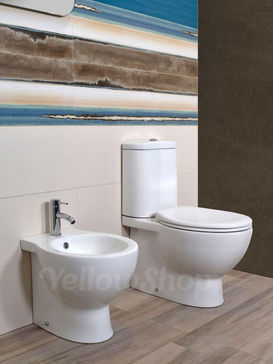 Scarico Water A Muro dettagli su sanitari a terra filo muro con cassetta vaso monoblocco  coprivaso bidet bagno wc