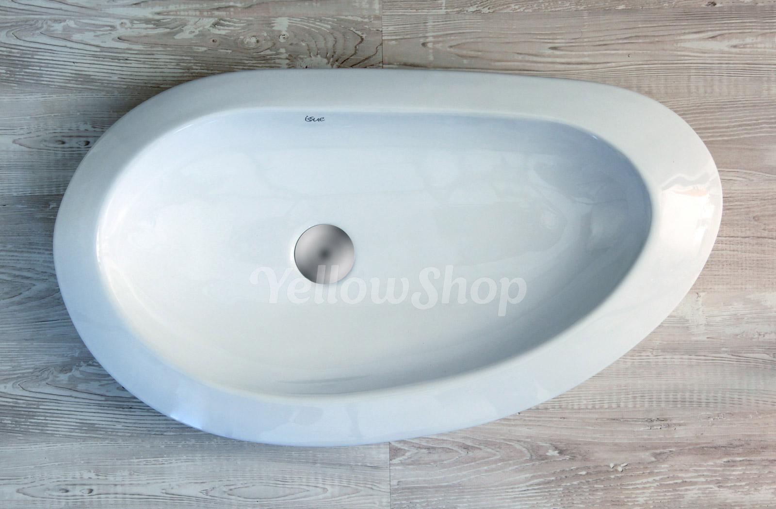 Lavabo cm 72 x 40 da appoggio ceramica lavandino lavello - Lavabo 40 cm profondita ...