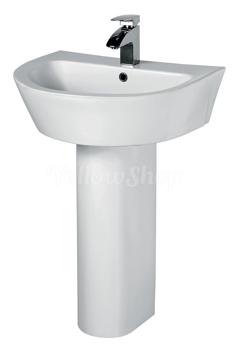 Lavabo con colonna ceramica moderno lavandino lavello sanitari a terra bagno ebay - Lavabo cucina moderno ...
