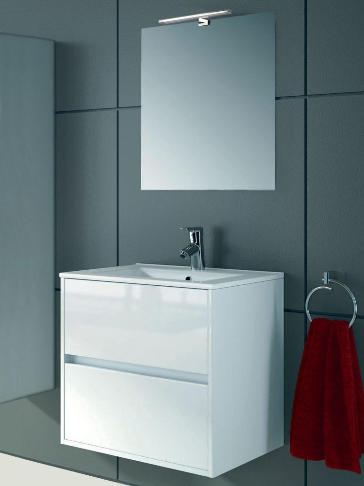 Arredo bagno mobile sospeso legno 70 specchiera lavabo for Lavabo mobile bagno