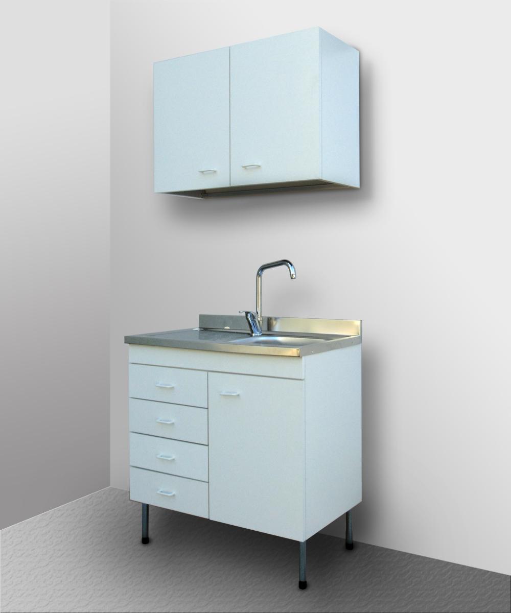Mobile cucina componibile con lavello inox sottolavello - Mobile cucina bianco ...