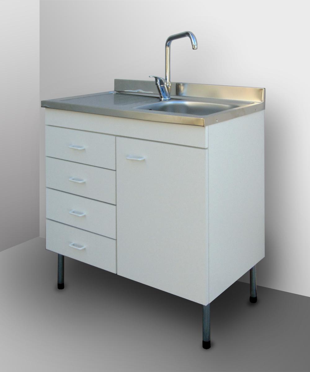 Mobile cucina componibile con lavello inox sottolavello pensile base 80 50 cubo ebay - Lavello con mobile cucina ...