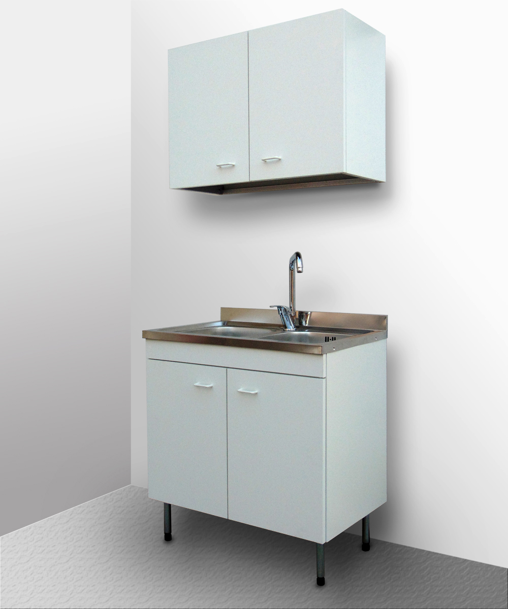 Mobile cucina con lavello inox componibile sottolavello for Mobile bianco cucina