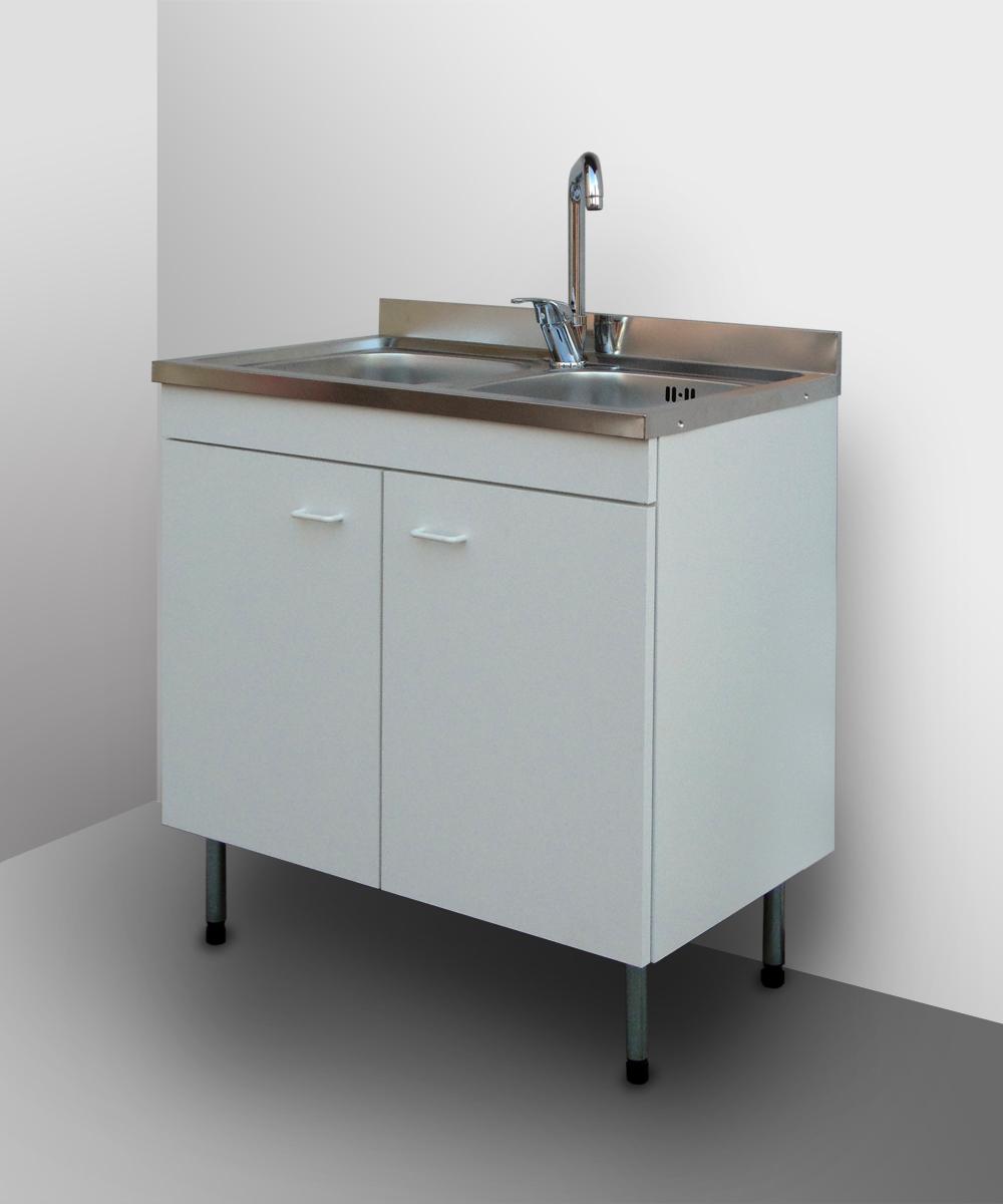 Mobile cucina con lavello inox componibile sottolavello cubo pensile base 80 50 ebay - Lavello cucina con mobile ...