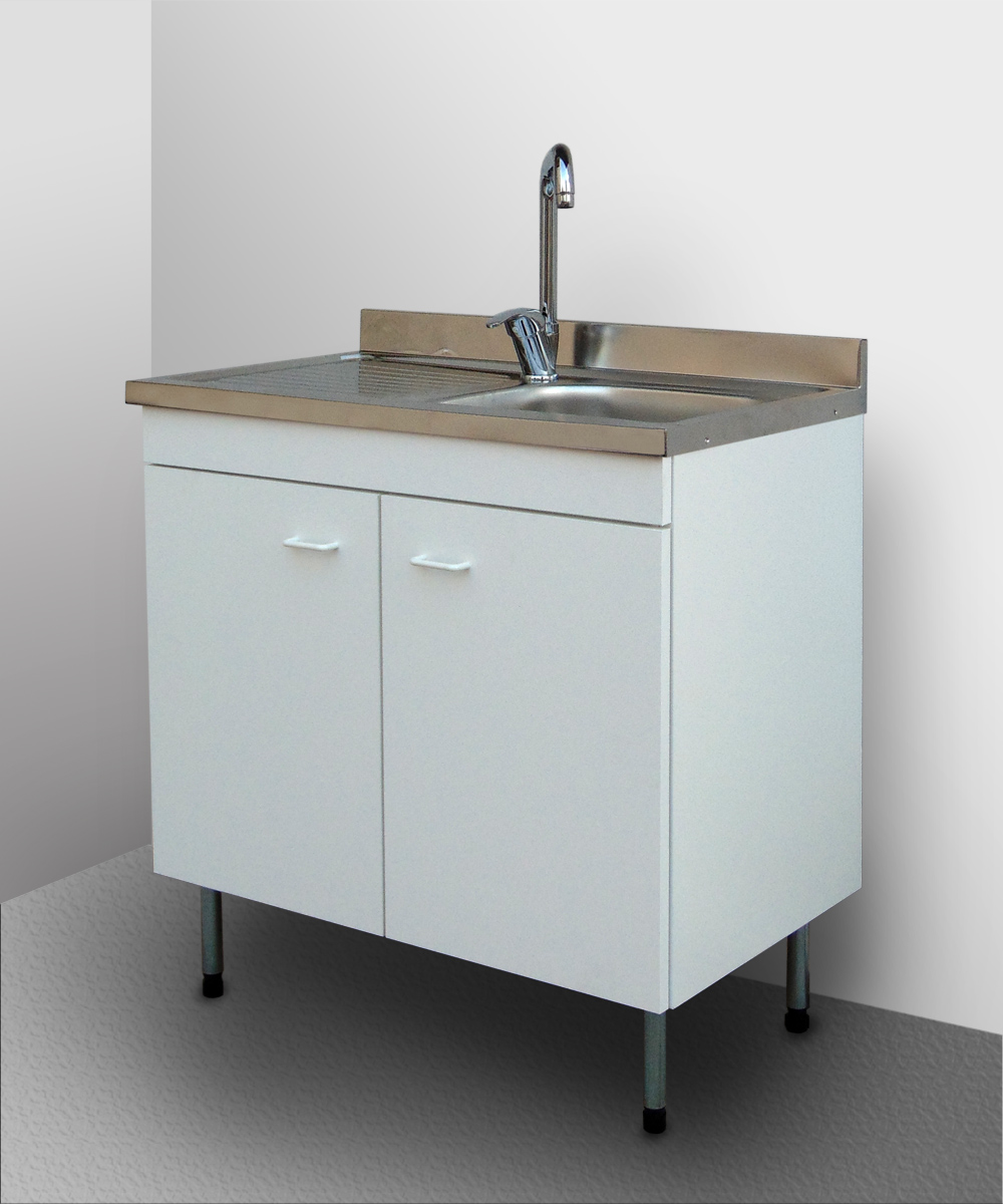 Details about Mobile Modular KITCHEN with Sink Stainless Undercounter Cube  Garden Base 80 50- show original title