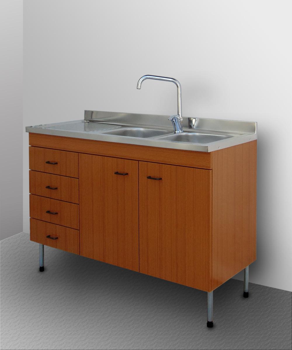 Mobile cucina lavello inox sottolavello pensile cubo base componibile 120 80 ebay - Mobile sottolavello cucina 120 ...