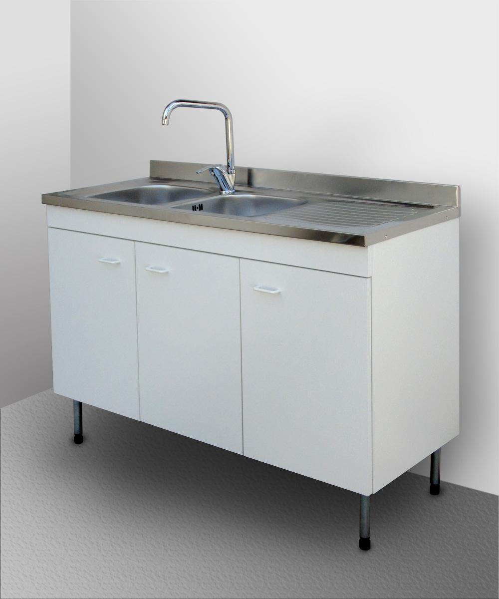 Mobile cucina lavello inox componibile sottolavello cubo pensile base 120 80 ebay - Lavello cucina profondita 40 ...