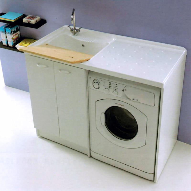 Mobile pilozza lavatoio lavanderia lavapanni lavatrice lavabo lady cm 124 x 60 d ebay - Mobile coprilavatrice con lavatoio ...