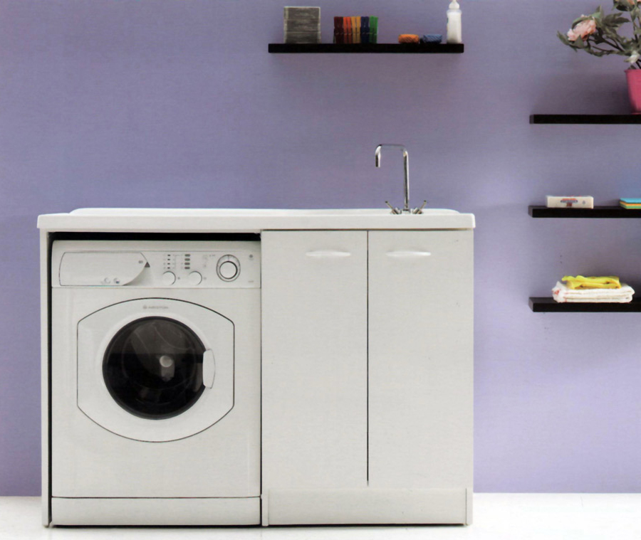 Mobile lavatoio lavanderia lavapanni lavatrice lavabo cm - Ikea mobile lavanderia ...