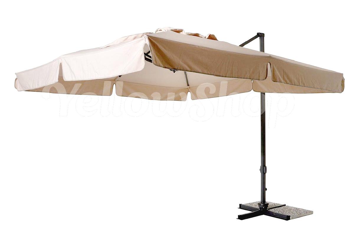 ombrellone giardino piscina mt 3x3 alluminio decentrato arredo esterno gazebo ebay. Black Bedroom Furniture Sets. Home Design Ideas