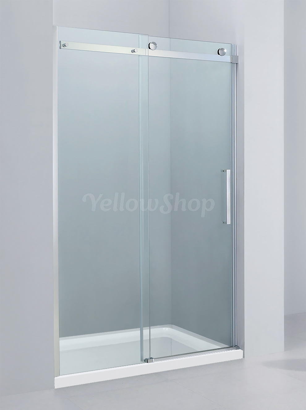 Box doccia porta anta scorrevole nicchia bagno 100 120 140 160 cristallo 8 mm ebay - Porta in cristallo scorrevole ...