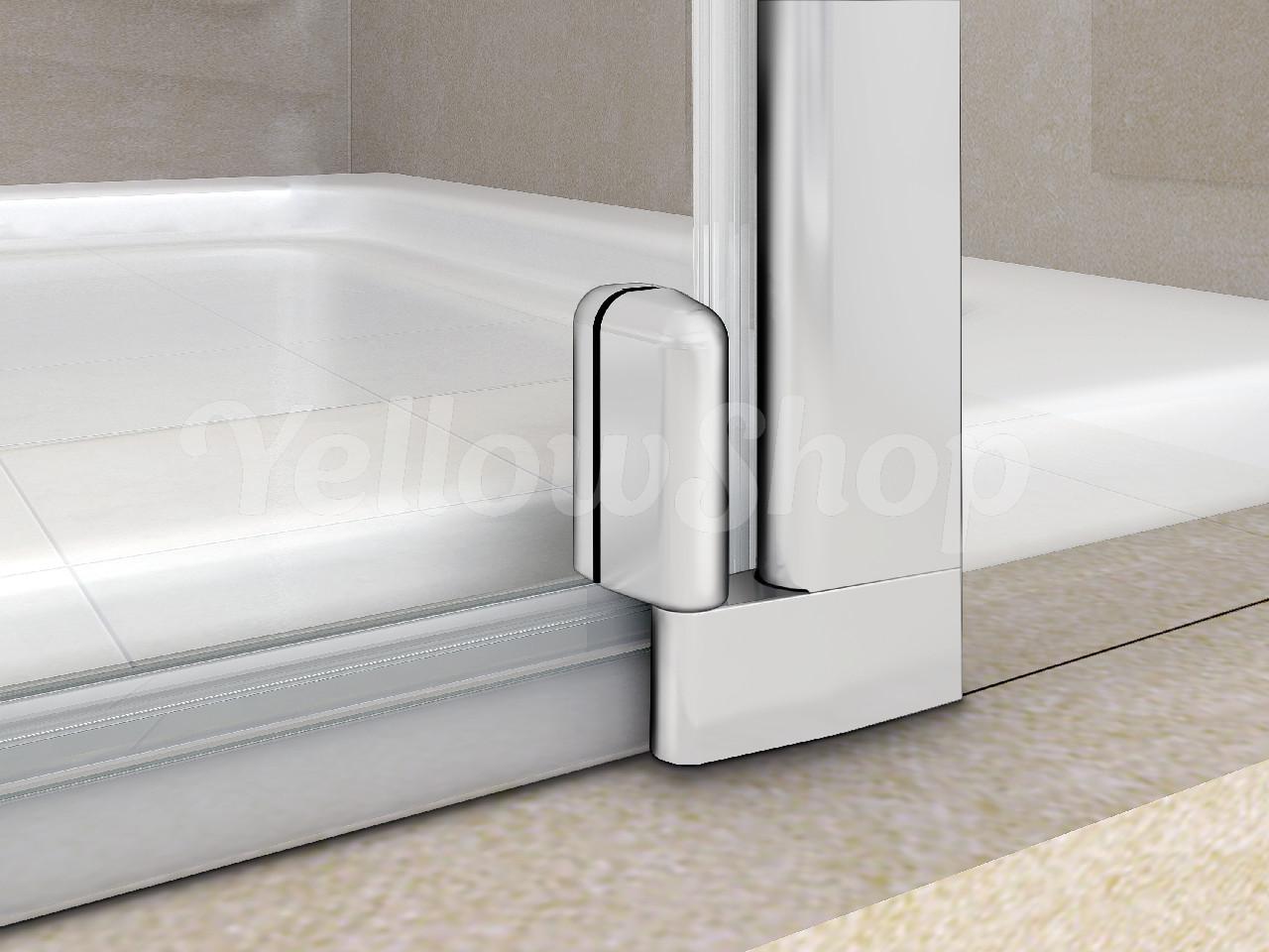 Parete Vasca Da Bagno : Parete vasca sopravasca battente cristallo trasparente mm bagno