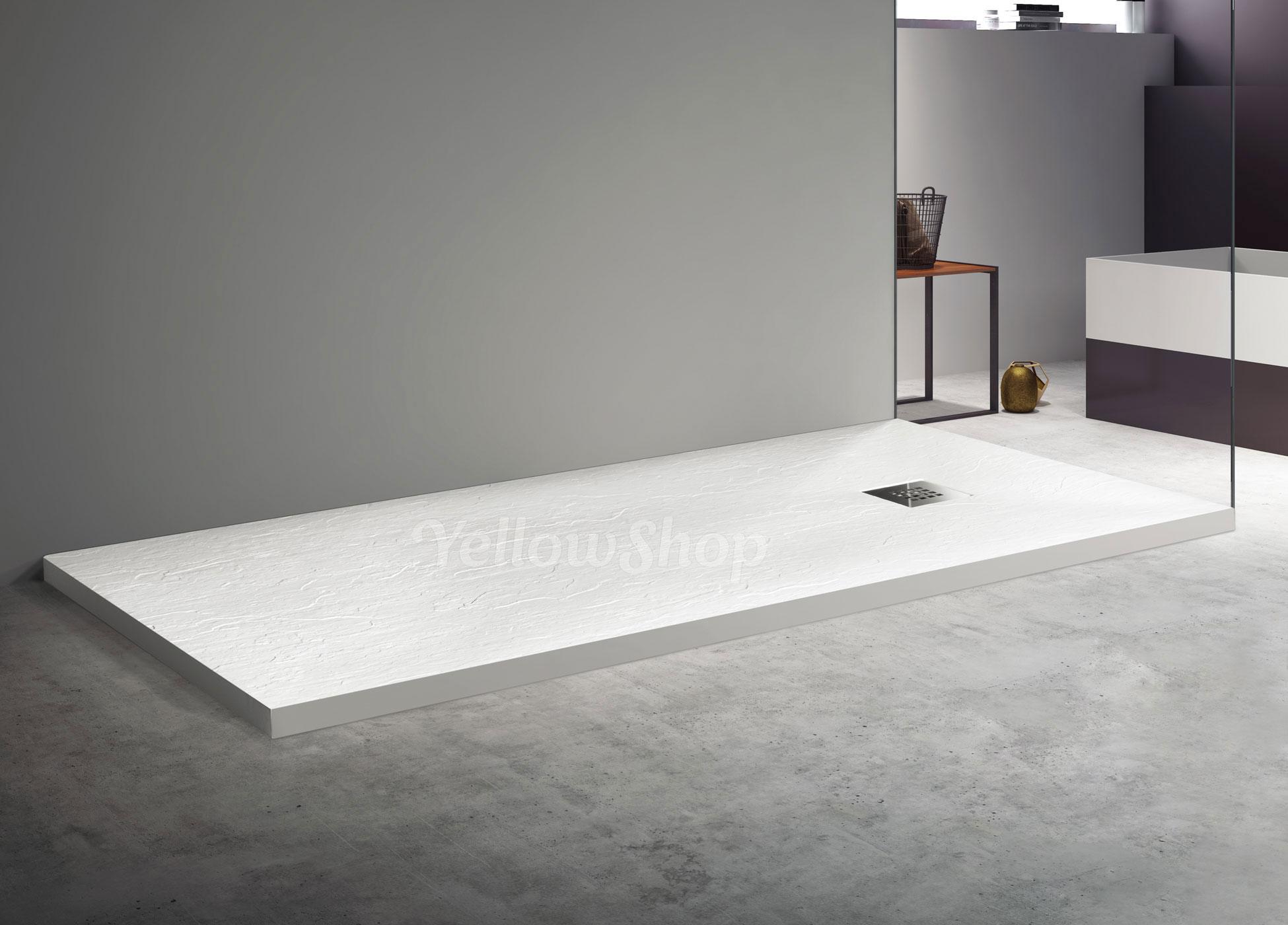 Piatto doccia marmoresina pietra quadrato sottile beige box