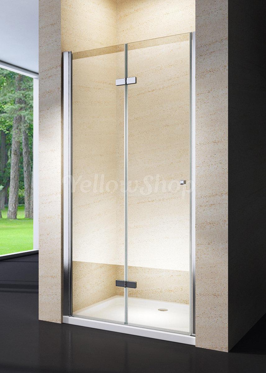 box doccia porta nicchia da cm 88 a 92 soffietto libro cristallo