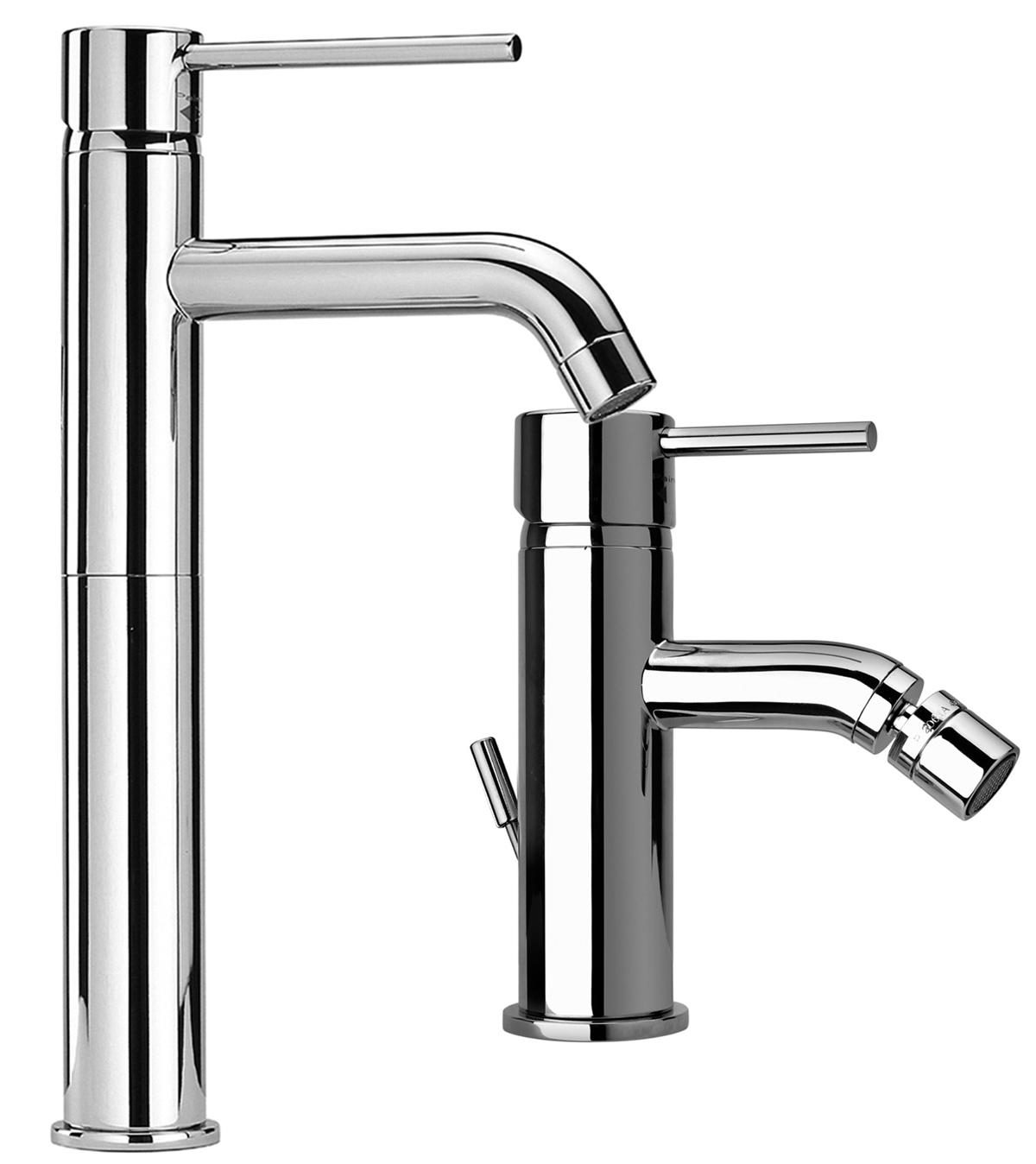 Set miscelatori rubinetteria bagno rubinetto lavabo alto for Rubinetti per lavabo
