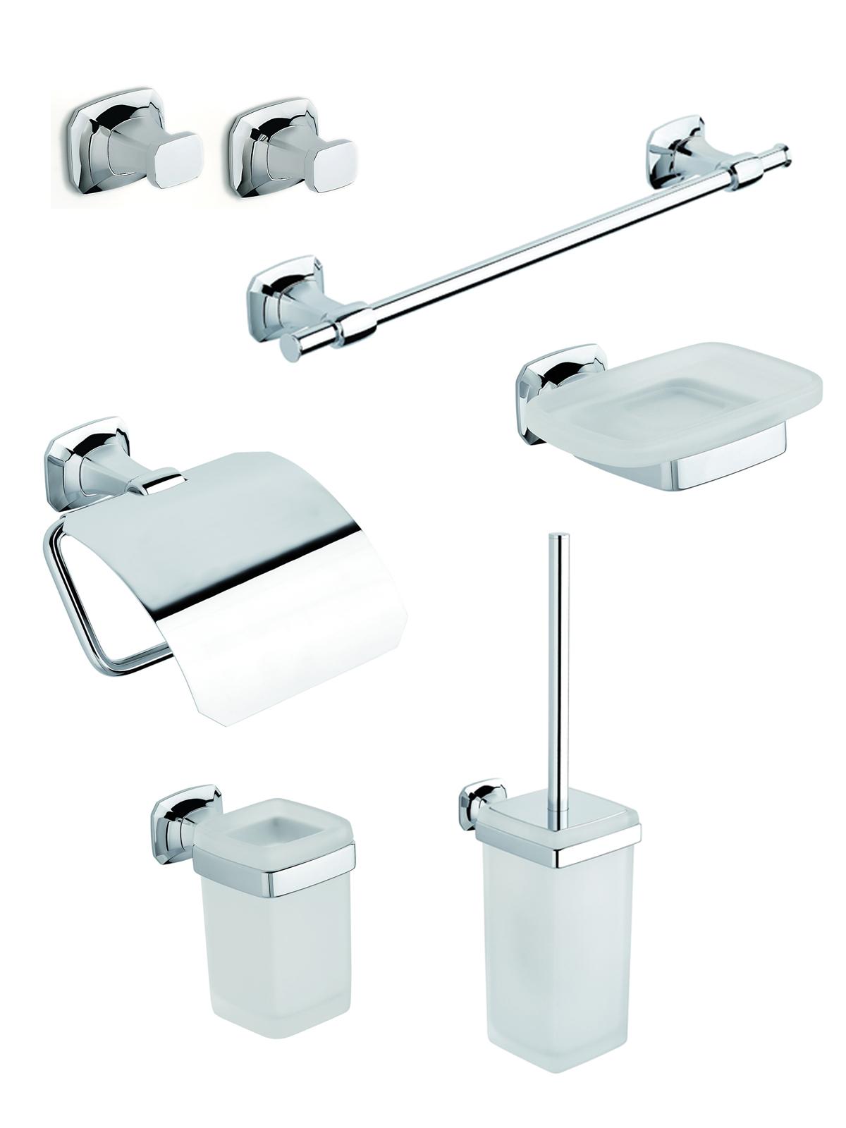 Accessori Bagno Porta Sapone.Su Accessori Porta Sapone Rotolo Dettagli Set Bagno