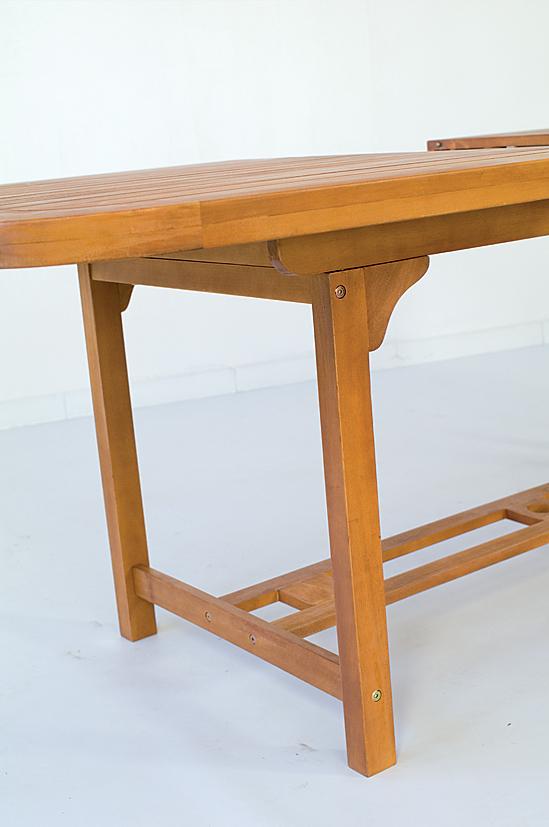 Set tavolo legno ovale tondo 180 allungabil e 260 6 poltrone poltrona giardino ebay - Tavolo tondo estensibile ...