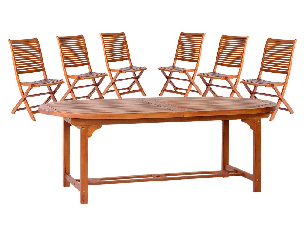 Tavolo ovale tondo 180 allungabile 260 legno 6 sedie for Tavolo ovale allungabile legno massello
