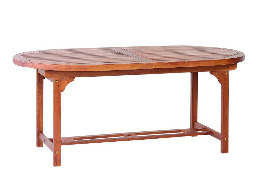 Tavolo legno giardino ovale allungabile 180 260x100 cm for Tavolo ovale allungabile legno massello