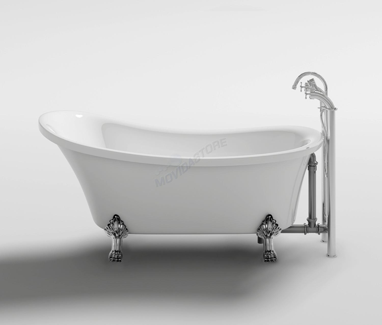 Vasca Da Bagno Stile 800.Dettagli Su Vasca Da Bagno Impero Freestanding Vintage Antica Vasche Con Piedini 160x72xh75