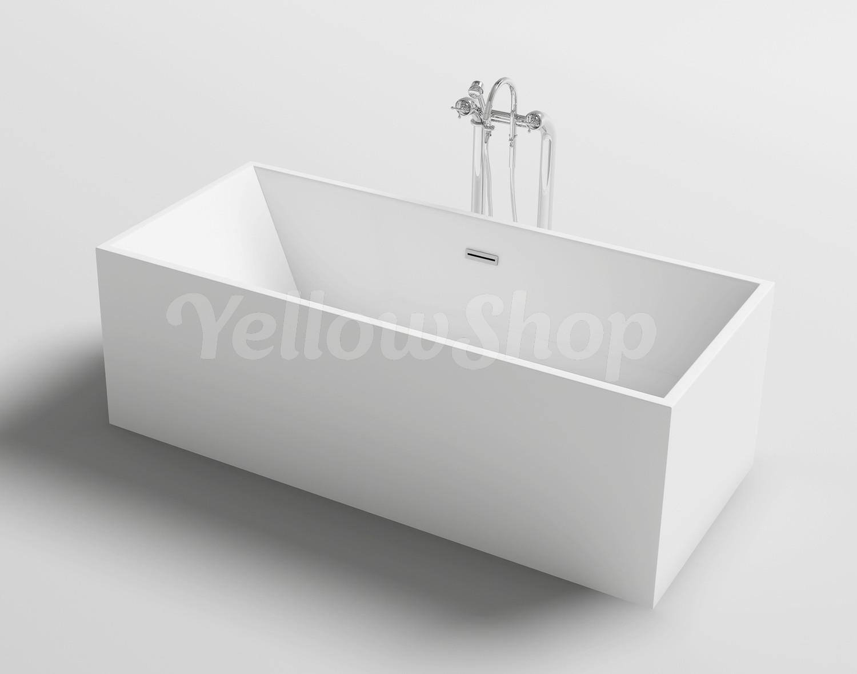 Vasca Da Bagno Freestanding Prezzo : Vasca da bagno rettangolare kube freestanding moderna vasche