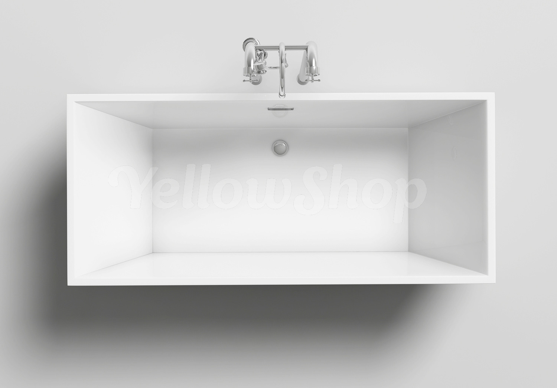 Vasca da bagno rettangolare kube freestanding moderna - Vasca da bagno freestanding ...