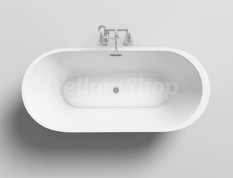 Vasca da bagno one freestanding moderna design vasche centro ovale 170x80xh58 ebay for Vasca da bagno freestanding