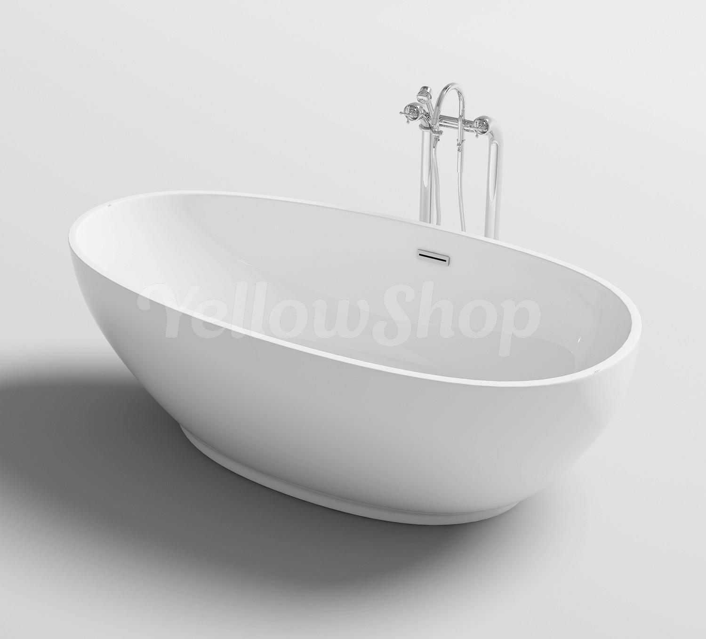 Quanto Contiene Una Vasca Da Bagno.Dettagli Su Vasca Da Bagno Ovale Trend Freestanding Moderna Vasche Design 180x90xh58