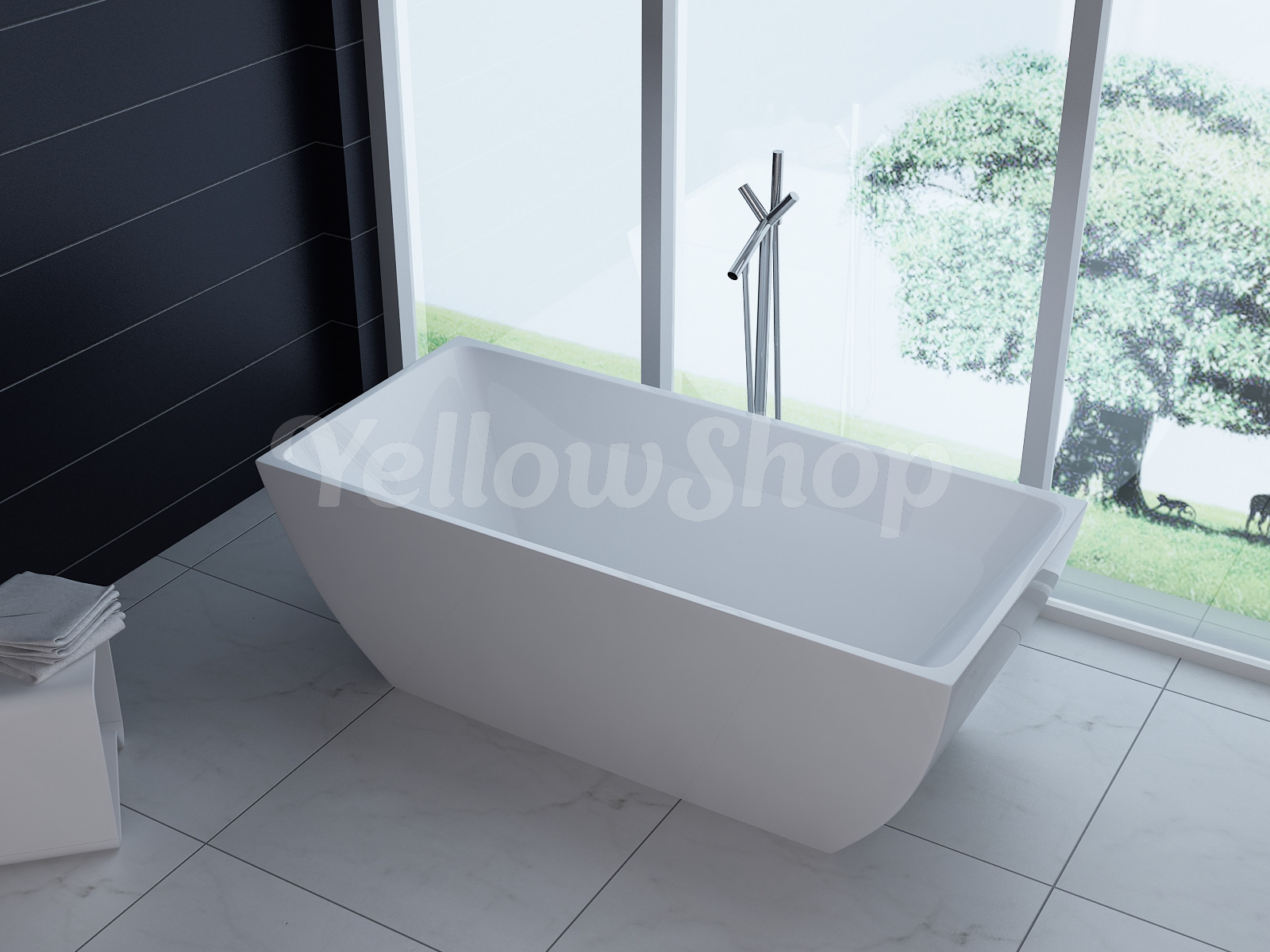 Vasca Da Bagno Rotta : Vasca da bagno rettangolare unika freestanding moderna vasche design