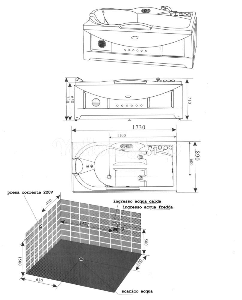 Dimensioni standard vasca da bagno miscelatore - Vasche da bagno angolari misure e prezzi ...